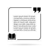 Коробка цитаты Стоковое Изображение