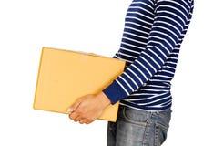 Коробка человека и коробки для eCommerce и онлайн магазина Стоковые Изображения RF