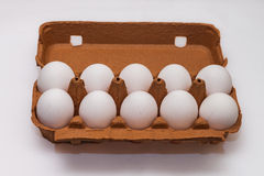 Коробка 10 яичек Стоковое Фото