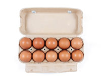 Коробка яичек Стоковая Фотография RF