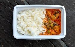 Коробка для завтрака, еда Таиланда Стоковые Фото