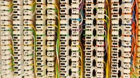 Коробка для соединения кабелей телефона и компьютера Стоковое фото RF