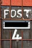 Коробка 4. столба. Стоковое Фото