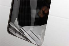 коробка ballot предпосылки голубая падая изолированная политическая красная белизна Стоковое Изображение RF