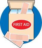 коробка bandaids Стоковая Фотография RF