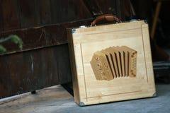 Коробка Bayan аккордеона стоковое изображение
