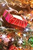 Коробка colourfull подарка красная Стоковые Изображения RF
