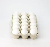 коробка eggs белизна Стоковая Фотография RF
