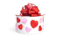 Коробка Heart&gift Стоковое Изображение