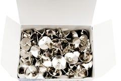 Коробка thumbtacks Стоковое Фото
