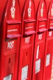 коробки вывешивают красный цвет 3 Стоковое Изображение