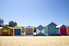 Коробки в Брайтоне, Австралии стоковая фотография