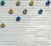 Коробки вложенности на деревянной планке Стоковая Фотография RF