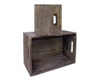 коробки 2 деревянные Стоковое Фото