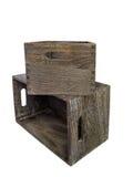 коробки 2 деревянные Стоковая Фотография RF