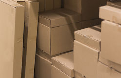 Коробки жда для их отклонения Стоковое Фото