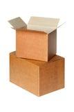 Коробки изолированные на белизне Стоковое фото RF