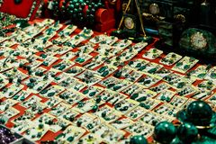 Коробки и аксессуары от малахита Стоковые Фото