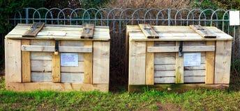Коробки компоста общины Стоковые Изображения