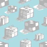 коробки красят различные нарисованные легкие слои руки управляют эскизами к иллюстрация вектора