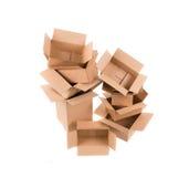 коробки опорожняют стог Стоковые Изображения RF