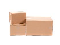 коробки опорожняют стог Стоковое Изображение