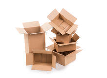 коробки опорожняют стог Стоковое Изображение RF