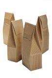 Коробки от goffered изолированного картона Стоковая Фотография