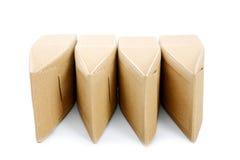 Коробки от goffered изолированного картона Стоковые Фото