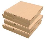 Коробки пиццы изолированные на белизне Стоковое Изображение