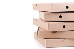 Коробки пиццы картона Стоковое фото RF
