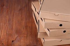 Коробки пиццы картона Стоковые Фотографии RF