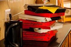 Коробки пиццы Стоковое Изображение RF