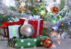 Коробки подарка рождества Стоковое Изображение
