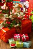 Коробки подарка рождества Стоковые Изображения