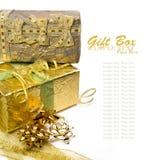 Коробки подарка с смычками Стоковое Изображение