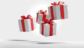 Коробки подарков 3d-illustration Иллюстрация штока