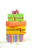 коробки покрасили подарок Стоковое Фото
