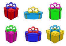коробки покрасили различные формы multi Стоковые Изображения RF