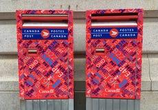 Коробки почты столба Канады Стоковое Фото