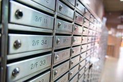Коробки почты шкафчика для документов и писем Стоковое Фото