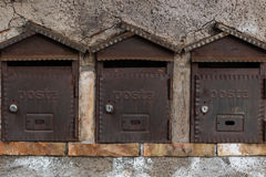3 коробки почты Стоковая Фотография
