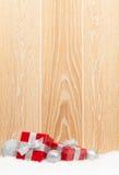 Коробки подарка рождества и декор Стоковое Изображение RF