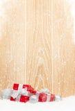 Коробки подарка рождества и декор Стоковые Изображения RF