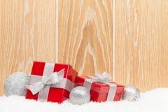 Коробки подарка рождества и декор Стоковая Фотография