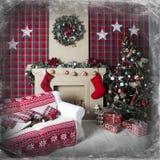 Коробки подарка рождественской елки и Кристмас Стоковое фото RF