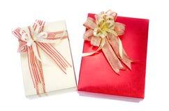 Коробки подарка с смычками и тесемками Стоковые Фотографии RF