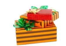 Коробки подарка цвета Нового Года. Стоковое Изображение