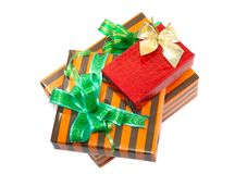 Коробки подарка цвета Нового Года. Стоковое Изображение RF