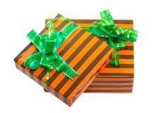 Коробки подарка цвета Нового Года. Стоковые Изображения RF